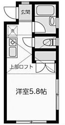神奈川県川崎市多摩区菅3丁目の賃貸アパートの間取り