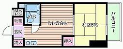 大阪府大阪市北区浪花町の賃貸マンションの間取り