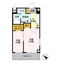 埼玉県八潮市大瀬6丁目の賃貸マンションの間取り