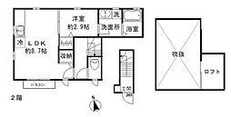 都営三田線 千石駅 徒歩5分の賃貸アパート 2階1LDKの間取り