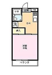 リバティ森田[2階]の間取り