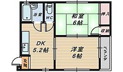 寺地町ビル[3階]の間取り