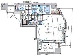 コンシェリア南麻布 TOKYO PREMIUM WEST 6階1Kの間取り
