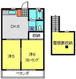 神奈川県横浜市港南区日野5丁目の賃貸アパートの間取り