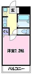 エイト富田林[3階]の間取り