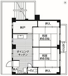 ビレッジハウス二和[2階]の間取り