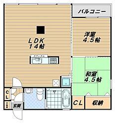ソレイユ王塚台[2階]の間取り