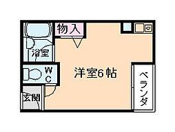 レジデンスイン梅田[9階]の間取り