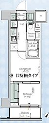 One ROOF Residence Kiba WEST 6階1DKの間取り