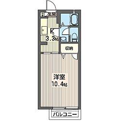 タウンハイツ東峰E[2階]の間取り
