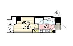 GRANPASEO麻布十番 グランパセオ麻布十番 14階1Kの間取り