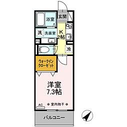 京王線 聖蹟桜ヶ丘駅 徒歩4分の賃貸アパート 3階1Kの間取り