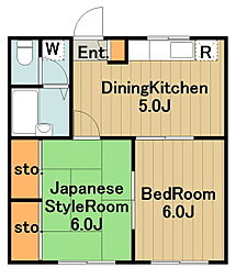 神奈川県相模原市中央区星が丘4丁目の賃貸マンションの間取り