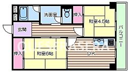 大阪府箕面市船場東3丁目の賃貸マンションの間取り