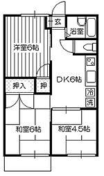 中新井グリーンコーポA[105号室]の間取り