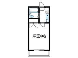 神奈川県座間市相模が丘2の賃貸アパートの間取り
