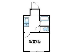 神奈川県座間市相武台2丁目の賃貸アパートの間取り