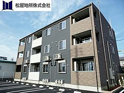 愛知県豊橋市神野新田町字ロノ割の賃貸アパートの外観