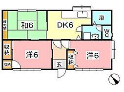 [一戸建] 岡山県倉敷市四十瀬 の賃貸【/】の間取り