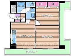 大阪府大阪市北区中崎西1丁目の賃貸マンションの間取り