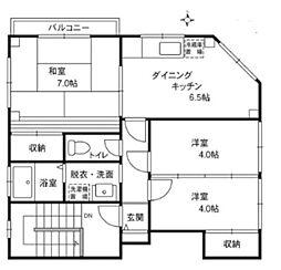 東京都中野区大和町1丁目の賃貸マンションの間取り