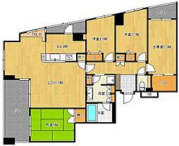 西新コンドミニアム[4階]の間取り