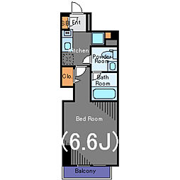 JR山手線 新橋駅 徒歩5分の賃貸マンション 9階1Kの間取り