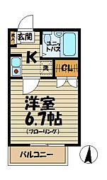 ドルフィン山崎[2階]の間取り