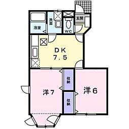 ブルースカイ夢II[1階]の間取り