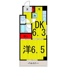 東京都北区赤羽2丁目の賃貸マンションの間取り