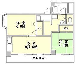 築地第一ビル[205号室]の間取り
