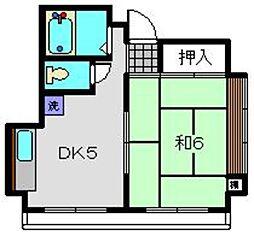 神奈川県横浜市西区南浅間町の賃貸マンションの間取り