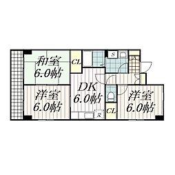 HOME'S第3キューブ[1階]の間取り