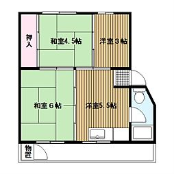竹山第2[3階]の間取り