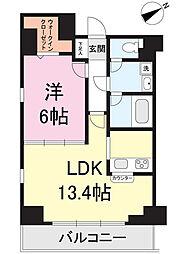オベリスク藤崎[2階]の間取り
