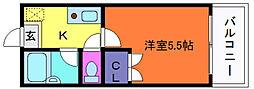 ロイヤルコート神戸岡本[3階]の間取り
