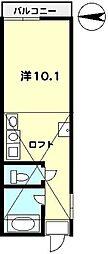 T−net コーポ梅の木[205号室]の間取り