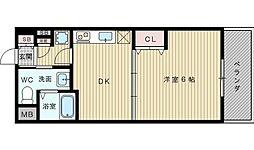 ドライバウム江坂[2階]の間取り