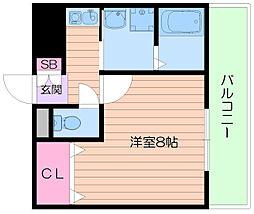 大和コーポ箕面[4階]の間取り