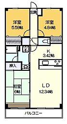 バードタウン7番館[4階]の間取り