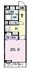 岡山県倉敷市玉島上成の賃貸アパートの間取り