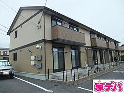 愛知県豊田市広田町稲荷山の賃貸アパートの外観