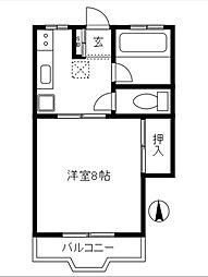センチュリーマンション[205号室]の間取り