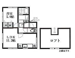 西武国分寺線 恋ヶ窪駅 徒歩8分の賃貸アパート 2階1LDKの間取り