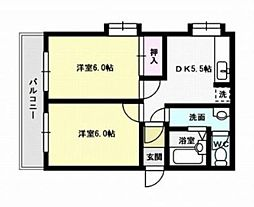 福岡県福岡市早良区賀茂1丁目の賃貸アパートの間取り