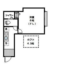 神奈川県川崎市宮前区馬絹3丁目の賃貸アパートの間取り