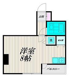 東京都品川区大井1丁目の賃貸マンションの間取り
