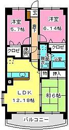 グランドゥール古祇園[2階]の間取り