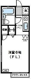 神奈川県川崎市高津区梶ケ谷5丁目の賃貸アパートの間取り