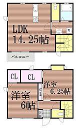 [一戸建] 東京都大田区山王1丁目 の賃貸【/】の間取り